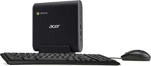 Acer Chromebox CXI3-UA91 Mini PC, Intel Celeron 3867U Processor 1.8GHz, 4GB DDR4 -Memory, 128GB M.2 SSD, 802.11ac Wi-Fi 5,...