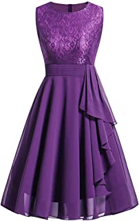comprar comparacion Kinlene Vestido Encaje Mujer - Vestido de Fiesta de Noche Casual Swing Dress Elegantes de Noche Vestido Encaje sin Mangas ...