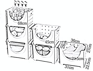 MU Panier de Rangement Multifonction Multifonctionnel de Cuisine en Bois Solide de ménage de boîte de Rangement portatif d...