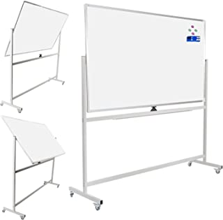 Double-Sided Mobile Whiteboard Magnetic Dry Erase White Boards on Wheels 72