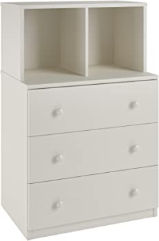 Ameriwood Home Skyler 3 Drawer Dresser with Cubbies