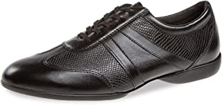 Diamant 133-325-561 - Sneakers da ballo da uomo, in pelle nera, suola divisa, comfort largo, Made in Germany