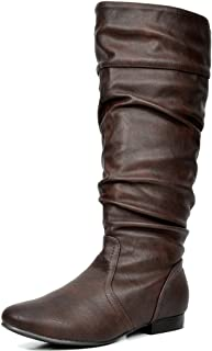 Best brown leather womens knee high boots Reviews