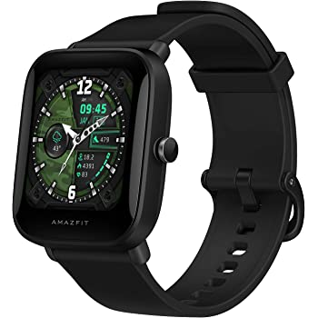 """Amazfit Bip U Pro Smart Watch with Built-in GPS, 9-Day Battery Life, Fitness Tracker, Blood Oxygen, Heart Rate, Sleep, Stress Monitor, 60+ Sports Modes, 1.43"""" Large HD Display, Water Resistant (Black)"""