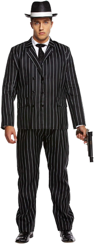 Adulte Homme Gangster Bugsy Malone great gatsby blanc /& noir robe de fantaisie prise de bec
