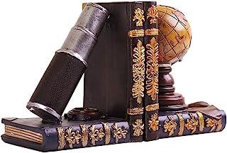 Bookend علم الفلك دفارات الرجعية غلوب تلسكوب كتاب الراتنج ديكور 6 بوصة Decorative Books