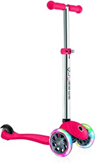 Globber Primo Scooter with Light Up Wheels - Red