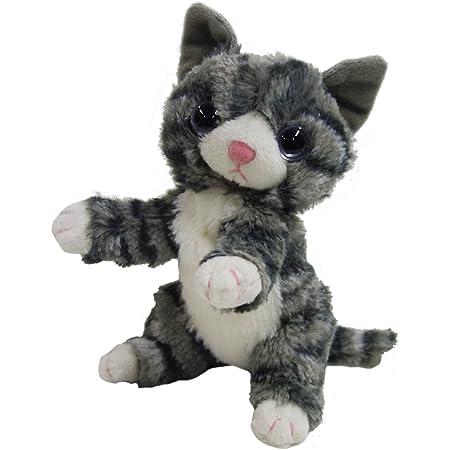 いっしょがいいね ビーンズぬいぐるみ(2S) 高さ15cm グレー猫
