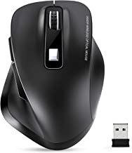 Wireless Mouse, TedGem 2.4G USB Mouse Computer Optical Mouse Full Size Ergonomic Mouse with USB Receiver 6 Buttons Laptop Mouse 5-Level DPI Adjustable Portable Mice for Laptop,PC,Windows,MacOs (Black)