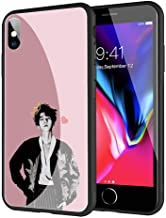 GUOZHAO Phone Case iPhone 5/5s/SE,GZA-175 Baekhyun Exo Tempered Glass Back Black Cover and Soft Silicone Rubber Bumper Frame for Scratch-Resistant and Anti-Scratch Absorption