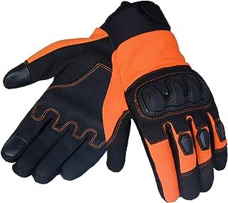 JET Motorradhandschuhe für den Sommer, belüftet, harte Knöchel, Touchscreen Handschuhe, Herren, ATV, Reiten ECCO (XL, Orange)