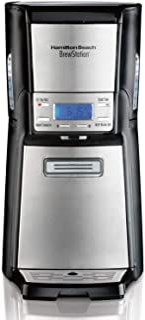 Hamilton Beach BrewStation 12 Cup Dispensing Coffee Maker, Keep Warm, Programe, Auto Shutoff, 110V 60 Hz USA Plug, Stainle...