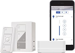 Lutron Caseta Wireless Smart Bridge Dimmer Kit with Plug-In Lamp Dimmer and Pico Remote