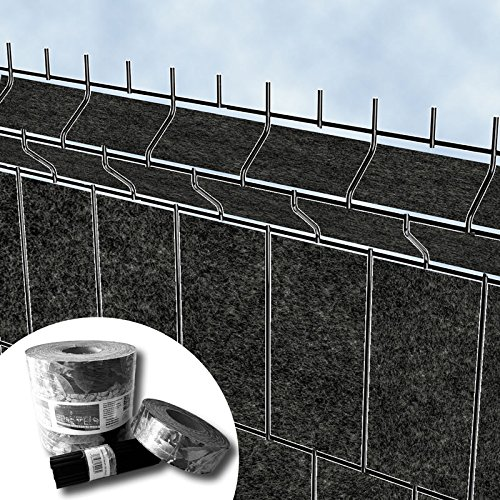 textile design, protection visuelle « brise-vue » pour les panneaux de clôtures à double fils horizontaux – sans PVC (Milano)
