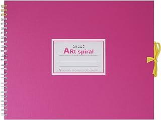 マルマン スケッチブック アートスパイラル F3 厚口画用紙 24枚 ピンク S313-08