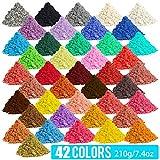 [210 Gram / 7.4 Ounce] Epoxy Resin Pigment, Cosmetic Grade Natural Mica Powder for Soap Making Dye Kit,Powdered Pigments Set,Bath Bomb Dye Colorant,Makeup Dye,Eye Shadow, Blush,Nail,Jewelry,Craft
