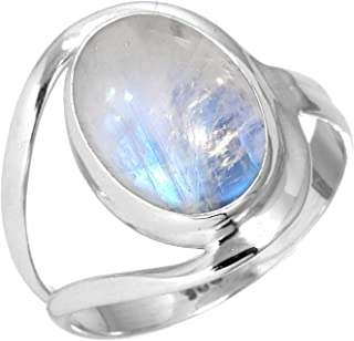 silver and moonstone jewellery