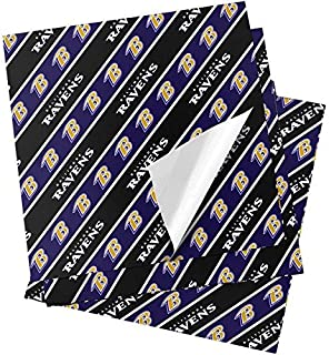 Forever Collectibles Baltimore Ravens Folded Wrapping Paper