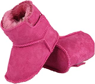 XUANOU Winter Snow Boots Boys Girls Outdoor Waterproof Cold Weather Snow Boots Pink