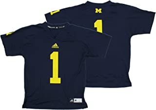 adidas Michigan Wolverines NCAA Boys Youth #1 Replica Football Jersey, Navy
