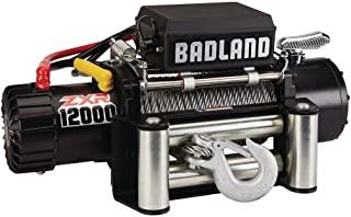 Badland ZXR 12000 lb. IP 66 Weather Resistant Off-Road Vehicle Electric Winch with Automatic Load-Holding Brake