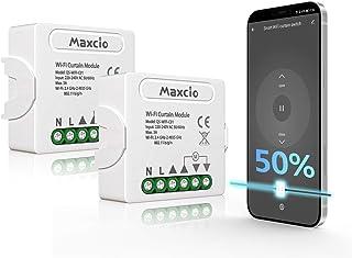Maxcio Rolluikschakelaar, WiFi-module voor elektrisch rolluik bestuurd door Smart Life, slimme schakelaar compatibel met A...