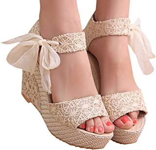 Lady Slope Sandals Loafers Shoes High Wedge Sandals
