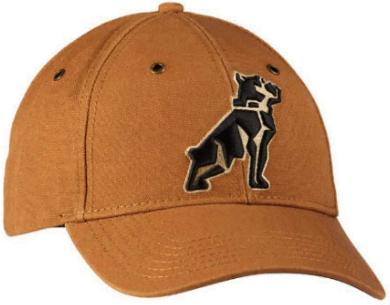 Mack Trucks Tan & Black Canvas Embroidered Bulldog Logo Hat/Cap