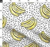 Bananen, Memphis, Konfetti, Obst Stoffe - Individuell