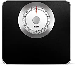 NYDZDM Mechanical Bathroom Scales – Retro White Black Accurate Weighing, Easy to Read Analogue Dial, Sturdy Metal Platform, No Buttons Or Batteries (Color : Black)