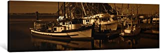 iCanvasART 1 Piece Fishing boats in The sea, Morro Bay, San Luis Obispo County, California, USA Canvas Print by Panoramic ...