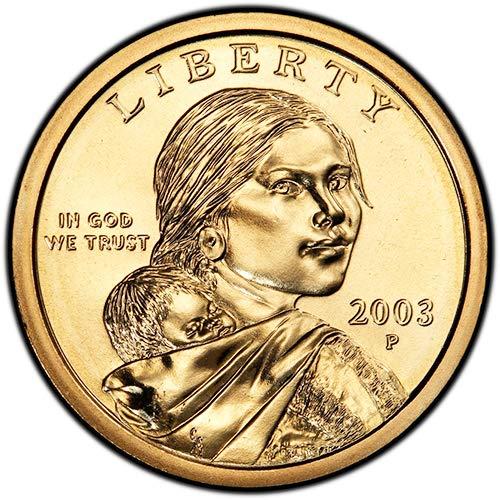 2003 P & D BU Sacagawea Dollars Choice Uncirculated US Mint 2 Coin Set