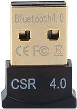 GENERIC Ultra-Mini Bluetooth CSR 4.0 USB Dongle Adapter for Windows Computer ( Black:Golden)