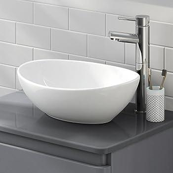 Lexonelec Countertop Basin Bathroom Wash Basin Oval Round Bowl Top Ceramic Basin Sink Modern Design Oval Round Amazon Co Uk Diy Tools