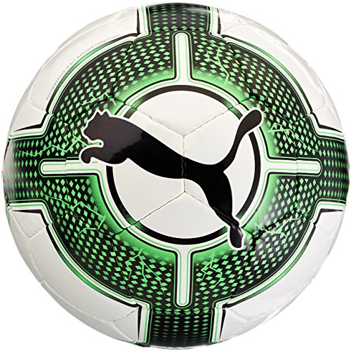 PUMA Evopower Lite 3 290 g, Calcio Unisex-Adulto, Bianco-Verde Gecko, Nero, 4
