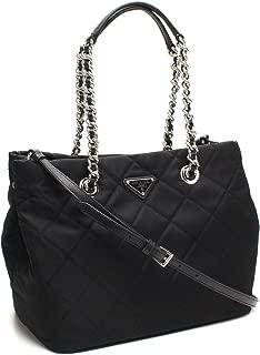 Midnight Black Quilted Tessuto Chain Designer Shoulder Tote Bag for Women 1BG740