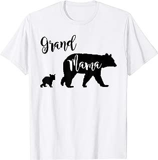 Grand Mama Bear Shirt Grandma Bear with 1 One Cub T-Shirt