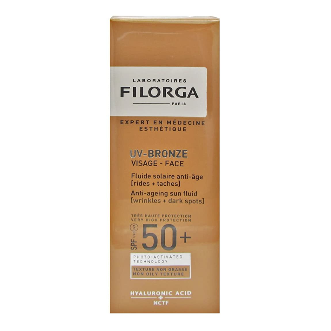 ブラウズニュース冷淡なFilorga Uv-bronze Face Fluid Spf50+ 40ml [並行輸入品]