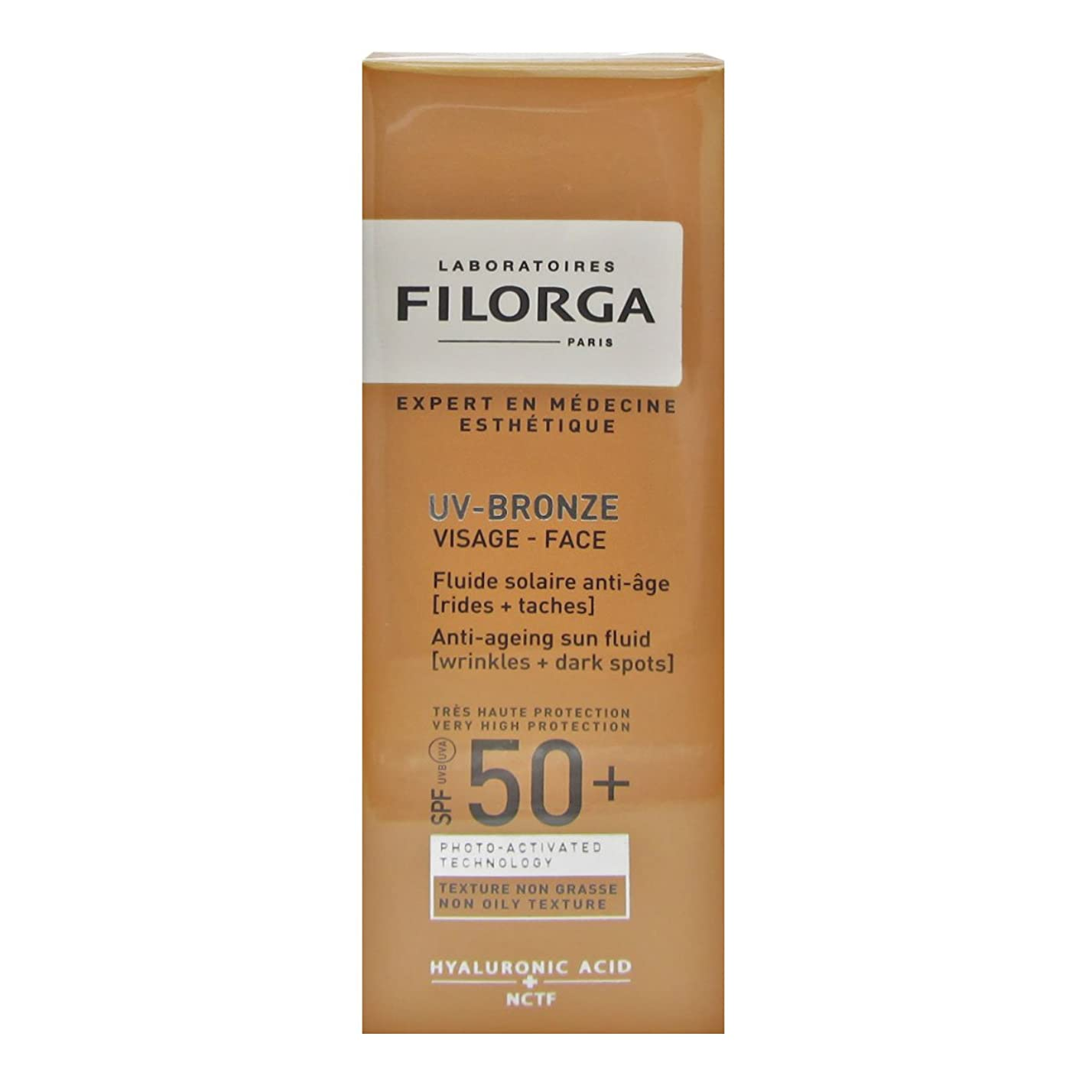 パブ同種の雲Filorga Uv-bronze Face Fluid Spf50+ 40ml [並行輸入品]