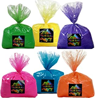 Color Powder Six Pack -30 Pounds - 5 pounds of 6 colors - Ideal for fun run events, youth group color wars, Holi events and more!