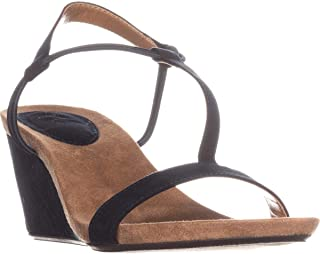 Womens Mulan Open Toe Casual Slingback Sandals, Navy, Size 10.0