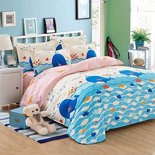 huyiming bed linings Verwendet für Bettwäsche, vierteiliger Herbst- und Winterdruck , Vierteiliger Satz: Steppdecke cover2 * 2.3m + Sheets2.3 * 2.5m + Kissenbezug Zwei