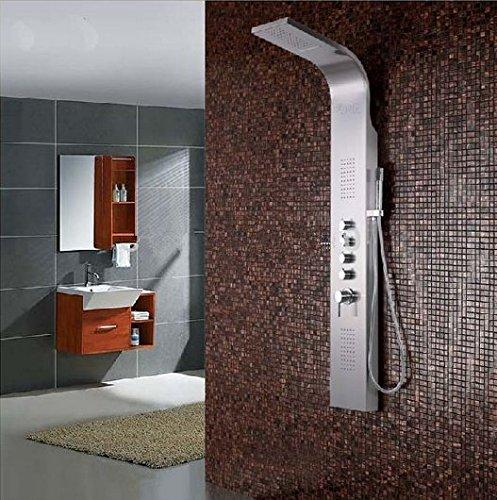 Gowe Luxus Wasserfall Duschpaneel gebürstet Massagedüsen Handbrause Dusche Spalte