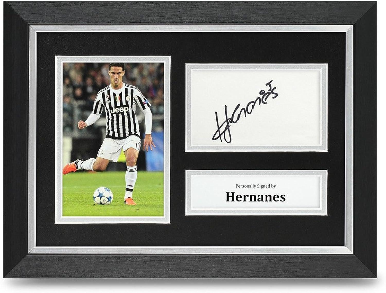 Hernanes Signed A4 Photo Framed Juventus Memorabilia Autograph Display + COA