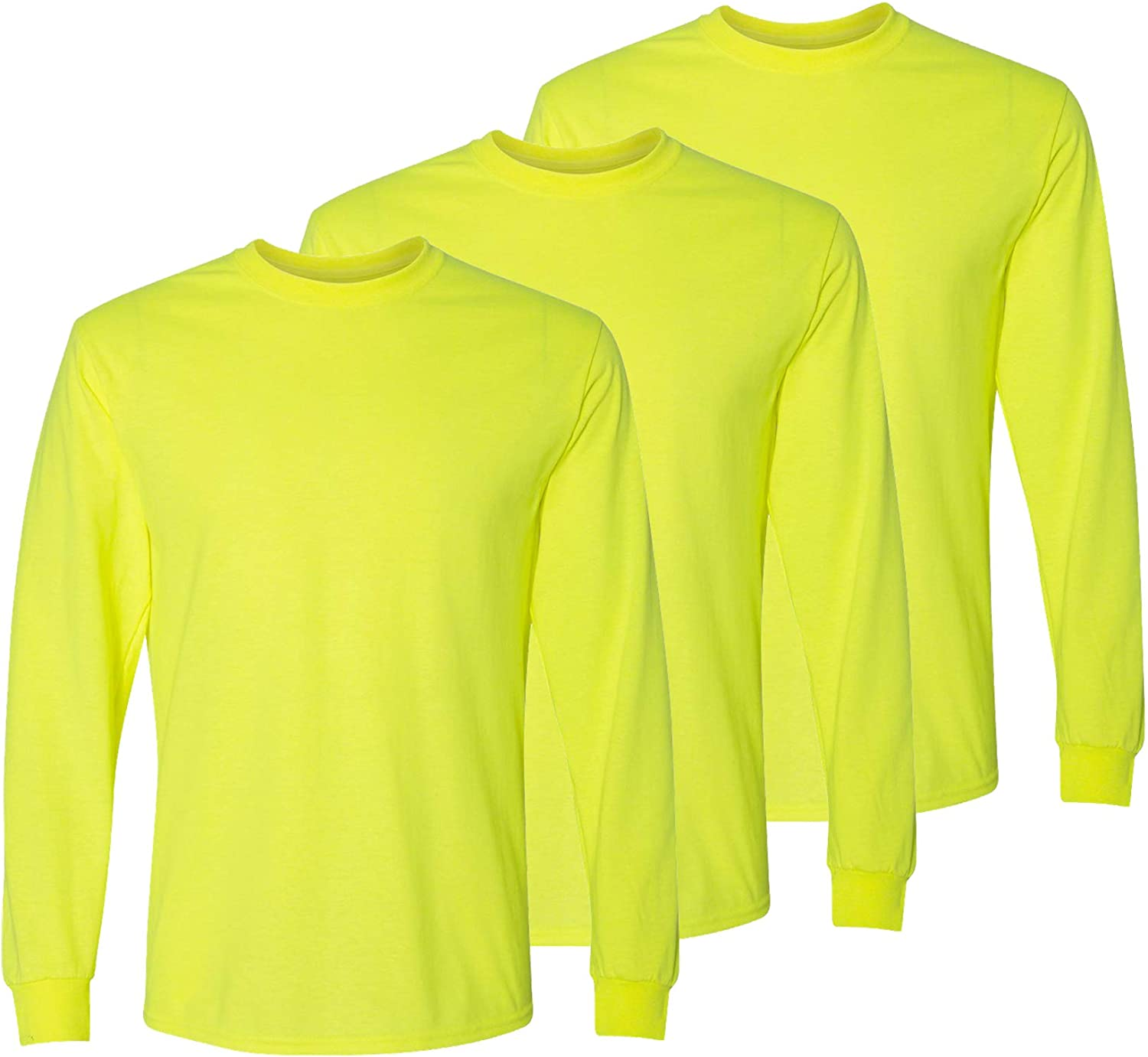 Safety High Outstanding Visibility Long Sleeve Work Construction Pack Alternative dealer Shirts