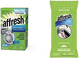 Affresh Washer Machine Cleaner and Machine Cleaning Wipes bundle