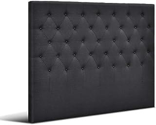Artiss Queen Size Upholstered Fabric Headboard - Charcoal