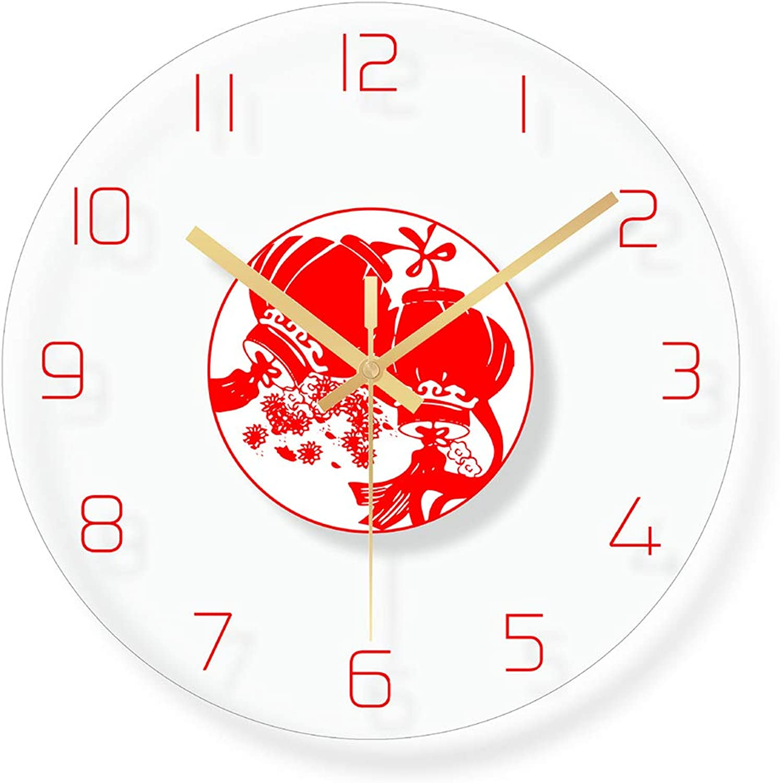 A la venta con descuento del 70%. ZUEN Reloj de Parojo Moda Reloj Festivo Rojo Decorativo, Decorativo, Decorativo, Estuche de Vidrio, Escaneo silencioso Movimiento - Hogar Oficina Escuela Dormitorio  Todo en alta calidad y bajo precio.