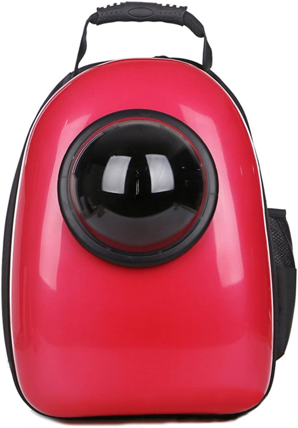 Bromrefulgenc Pet Travel Capsule for Dog & Cat,Fashion Pet Dog Cat Outdoor Carrier Backpack Travel Space Capsule Tote Bag Red