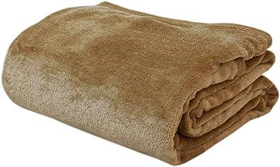 【軽量タイプ】 フランネル毛布 あったか 2枚合わせ シングルサイズ(140×200cm) ベージュ なめらかタッチ加工